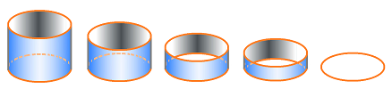 Cylinder into circle deformation.png